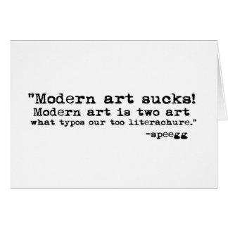 Modern Art Sucks Cards