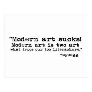Modern Art Sucks Postcard