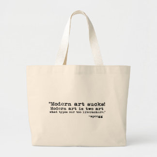 Modern Art Sucks Tote Bags