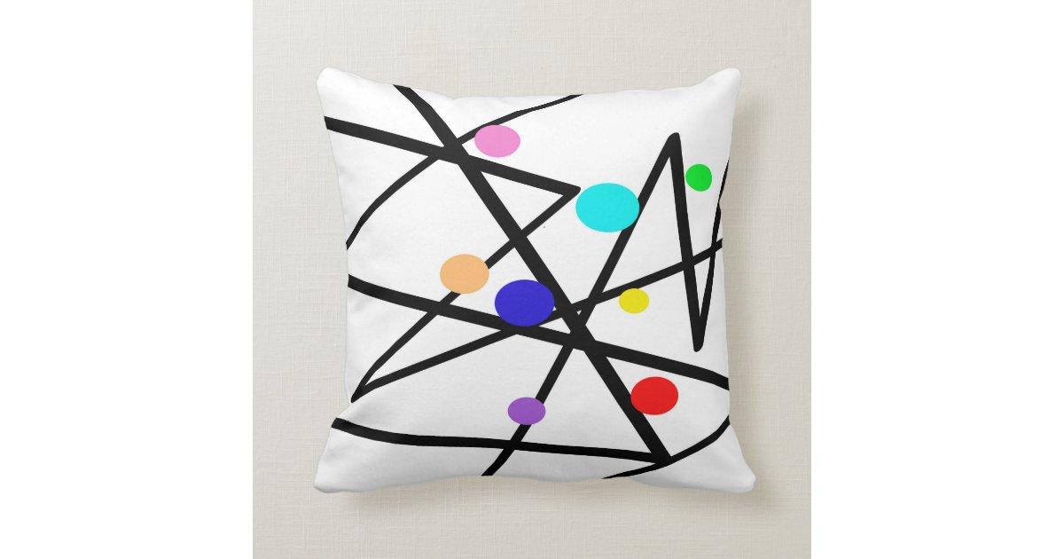 modern art throw pillow abstract design Zazzle