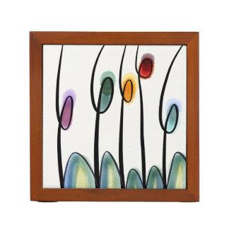 Modern art tulips desk organiser