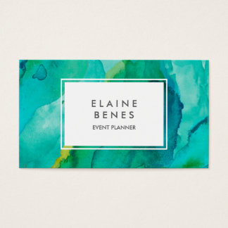 Modern Art Turquoise Business card