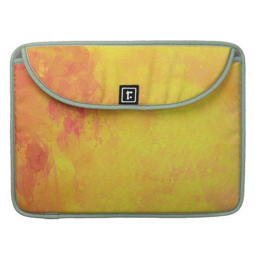 Modern Art Watercolor Abstract Yellow Orange Red MacBook Pro Sleeves