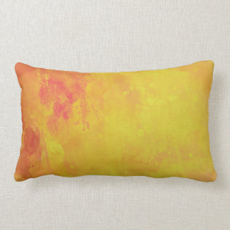Modern Art Watercolor Abstract Yellow Orange Red Pillows