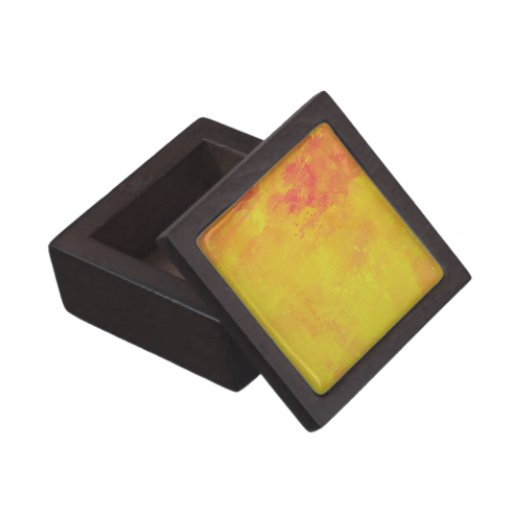 Modern Art Watercolor Abstract Yellow Orange Red Premium Gift Boxes