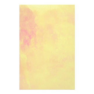Modern Art Watercolor Abstract Yellow Orange Red Stationery