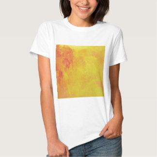 Modern Art Watercolor Abstract Yellow Orange Red Tee Shirt