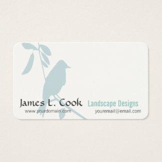Modern Art  Whimsical Blue Bird Professional Business Card