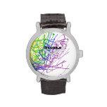 Modern art wrist watch