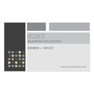 Modern Artist Abstract Grid Monochrome Fuzzy Dots Business Card