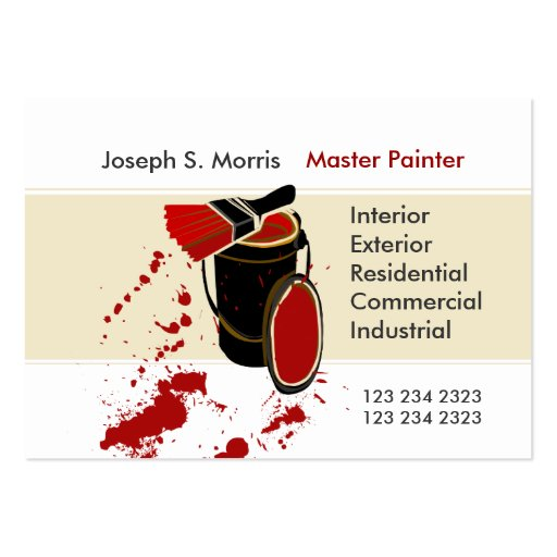 Modern Artist Skilled House Painting Business Cards