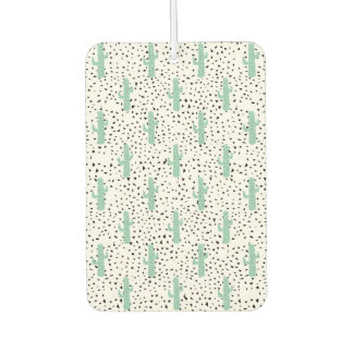 Modern Artistic Abstract Cactus and Triangles Car Air Freshener