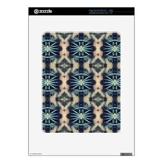 Modern Artistic Blue Cream Tribal Pattern Skin For iPad