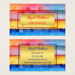 Color consultant interior design staging business cards templates modern artistic color consultant business card reheart Choice Image