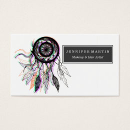 Native americans business cards templates zazzle modern artistic native american dreamcatcher business card colourmoves Choice Image