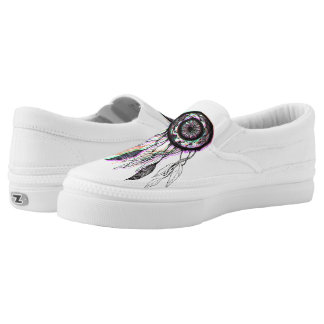 Modern Artistic Native American Dreamcatcher Slip-On Sneakers