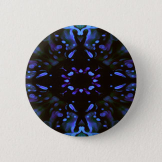 Modern Artistic Neon Lavender Periwinkle Abstract Pinback Button