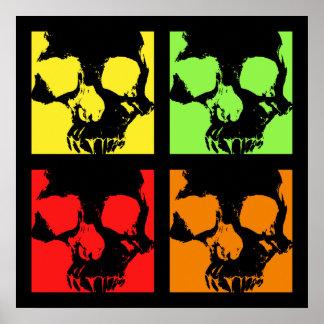 Modern artistic skulls poster