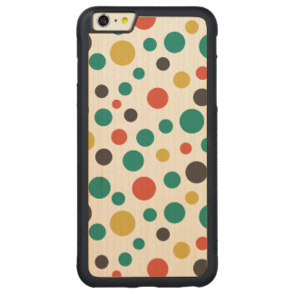 Modern Artistry Stylish Mix Size Colorful Dots Carved® Maple iPhone 6 Plus Bumper Case