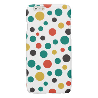 Modern Artistry Stylish Mix Size Colorful Dots Glossy iPhone 6 Case