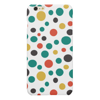 Modern Artistry Stylish Mix Size Colorful Dots Glossy iPhone 6 Plus Case