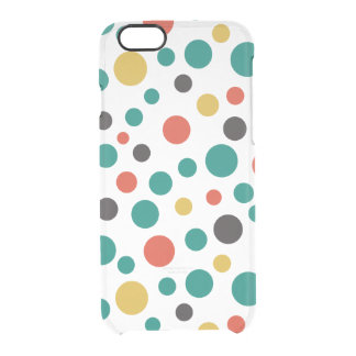 Modern Artistry Stylish Mix Size Colorful Dots Uncommon Clearly™ Deflector iPhone 6 Case