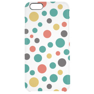 Modern Artistry Stylish Mix Size Colorful Dots Uncommon Clearly™ Deflector iPhone 6 Plus Case