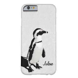 Modern Artsy Black White Penguin iPhone 6 case