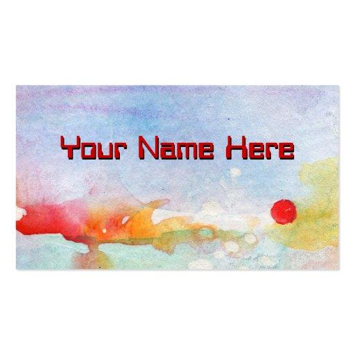 Modern artsy feminine elegant design business card zazzle for Artsy business cards
