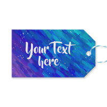 Modern Artsy Gradient blue and purple Gift Tags