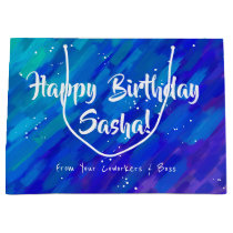 Modern Artsy Gradient purple and blue Large Gift Bag
