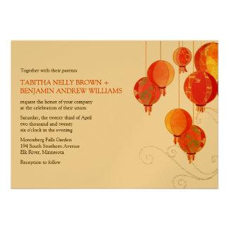 Modern Asian Flare Formal Wedding (Metallic Gold) Invites