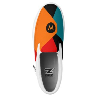 Modern Asymmetrical Geometric Design Printed Shoes