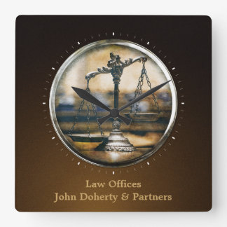 Modern Attorney at Law Wall Clock
