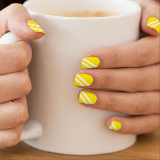 Modern Aureolin Diagonal Stripes Minx® Nail Wraps