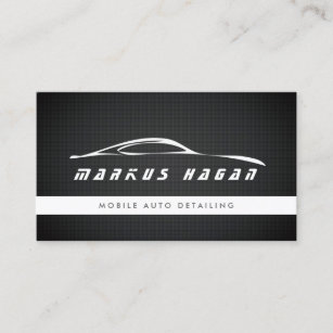 modern auto detailing auto repair business card - Auto Repair Business Cards