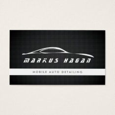 Modern Auto Detailing, Auto Repair Business Card at Zazzle