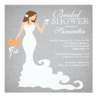 Modern Autumn Bride Wine Bridal Shower Invitations
