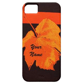 Modern autumn red bright grape leaf iPhone SE/5/5s case