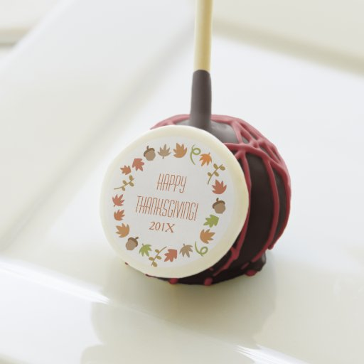 Autumn Thanksgiving Party Cake Pops