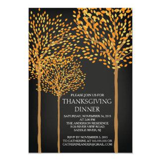 Modern Autumn Trees Thanksgiving Invitation
