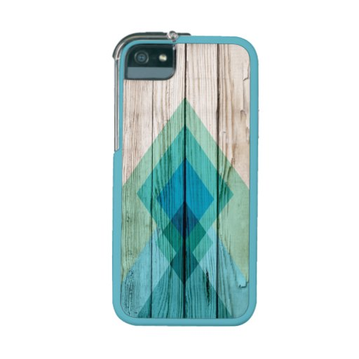 Modern aztec chevron wood custom iPhone 5s 5 case Cover For iPhone 5