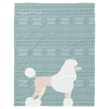 Aztec Themed Modern Aztec Designer Poodle Fleece Blanket