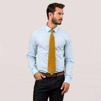 Modern Aztec Gold Pasmore Ripple Pattern Woven Tie