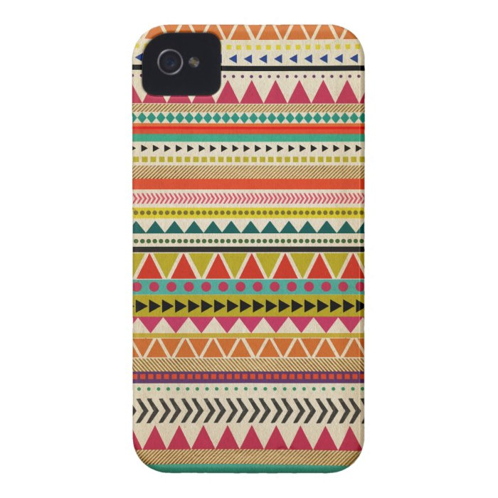 Modern Aztec Pattern Case Mate  iPhone 4 Case