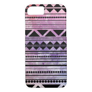 Modern Aztec Pattern Colorful Hippy Watercolor iPhone 8/7 Case
