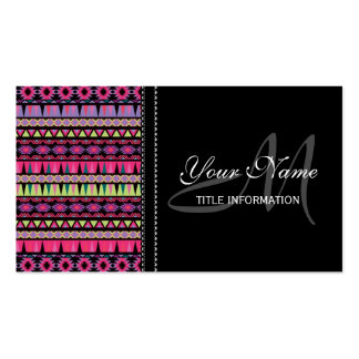Modern Aztec Pattern Double-Sided Standard Business Cards (Pack Of 100)