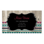 Modern Aztec Pattern on Wood Double-Sided Standard Business Cards (Pack Of 100)