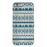 Modern Aztec Pattern on Wood iPhone 6 Case