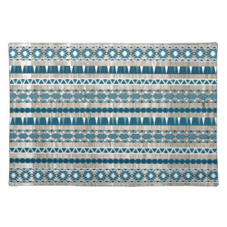 Modern Aztec Pattern on Wood Placemat